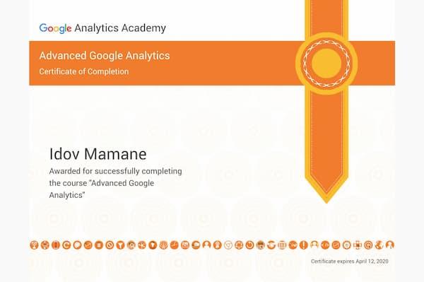 Certification Google Analytics Advanced